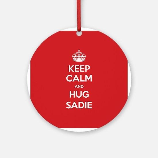 Hug Sadie Ornament (Round)
