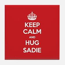 Hug Sadie Tile Coaster