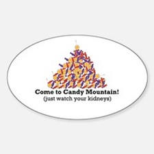 Candy Mountain Oval Decal