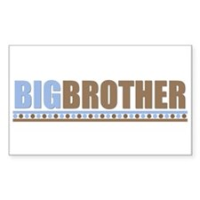 big brother brown/blue Rectangle Decal