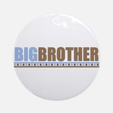 big brother brown/blue Ornament (Round)