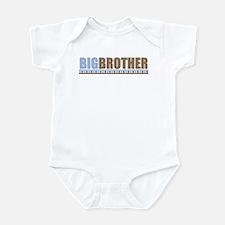 big brother brown/blue Infant Bodysuit