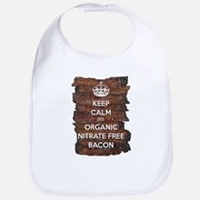 Keep Calm Organic Bacon Bib