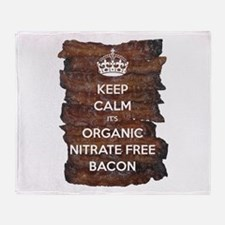 Keep Calm Organic Bacon Throw Blanket