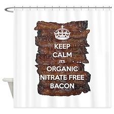 Keep Calm Organic Bacon Shower Curtain