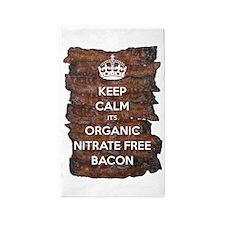 Keep Calm Organic Bacon 3'x5' Area Rug