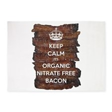 Keep Calm Organic Bacon 5'x7'Area Rug