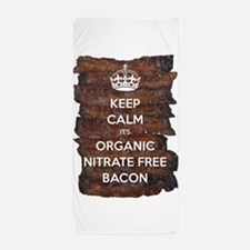 Keep Calm Organic Bacon Beach Towel