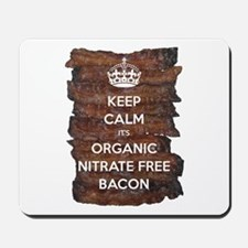 Keep Calm Organic Bacon Mousepad