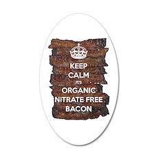 Keep Calm Organic Bacon Wall Decal