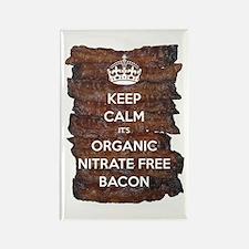 Keep Calm Organic Bacon Rectangle Magnet