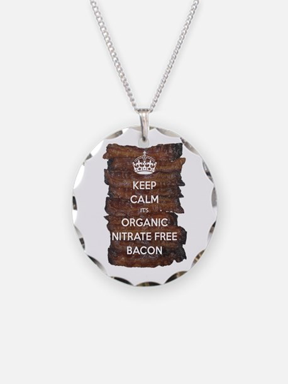 Keep Calm Organic Bacon Necklace