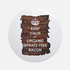 Keep Calm Organic Bacon Ornament (Round)