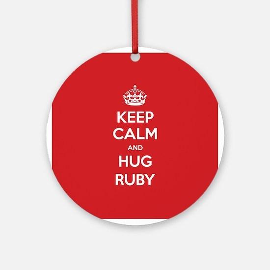 Hug Ruby Ornament (Round)