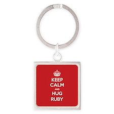 Hug Ruby Keychains