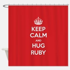 Hug Ruby Shower Curtain