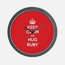 Hug Ruby Wall Clock