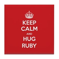 Hug Ruby Tile Coaster