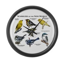 Warblers of the New World Large Wall Clock