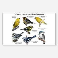 Warblers of the New World Sticker (Rectangle)