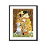 The Kiss & Bull Terrier Framed Panel Print