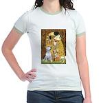 The Kiss & Bull Terrier Jr. Ringer T-Shirt