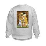 The Kiss & Bull Terrier Kids Sweatshirt