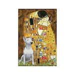 The Kiss & Bull Terrier Rectangle Magnet (10 pack)