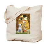 The Kiss & Bull Terrier Tote Bag
