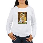 The Kiss & Bull Terrier Women's Long Sleeve T-Shir