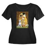 The Kiss & Bull Terrier Women's Plus Size Scoop Ne