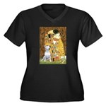 The Kiss & Bull Terrier Women's Plus Size V-Neck D