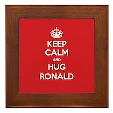 Hug Ronald Framed Tile