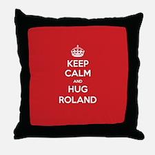 Hug Roland Throw Pillow