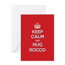 Hug Rocco Greeting Cards