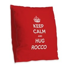 Hug Rocco Burlap Throw Pillow