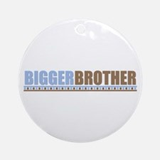 bigger brother brown blue Ornament (Round)