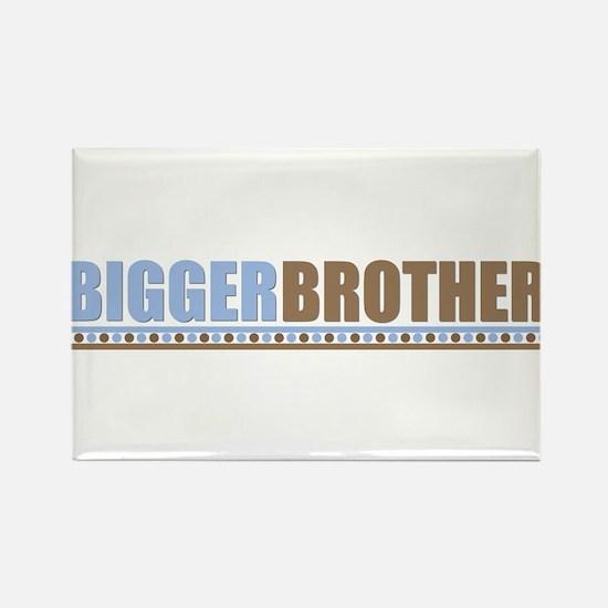 bigger brother brown blue Rectangle Magnet