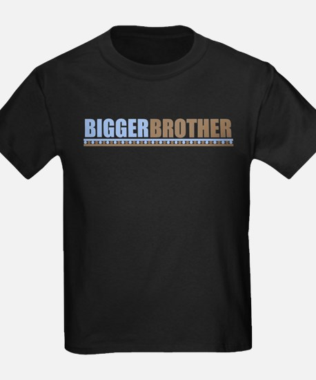 bigger brother brown blue T