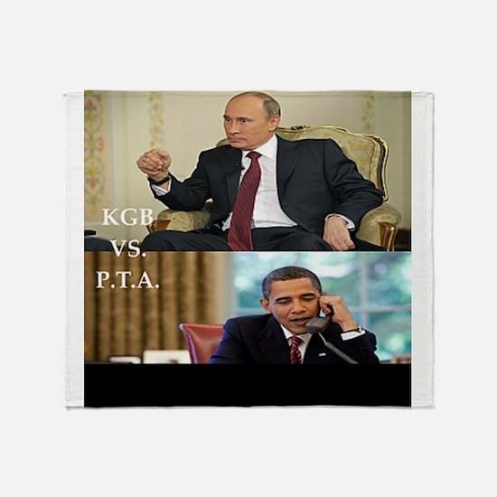 putin-obama Throw Blanket