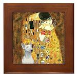 The Kiss & Bull Terrier Framed Tile