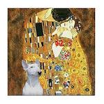 The Kiss & Bull Terrier Tile Coaster