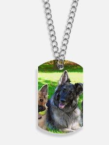 Happy Shiloh Shepherds Dog Tags