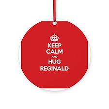 Hug Reginald Ornament (Round)