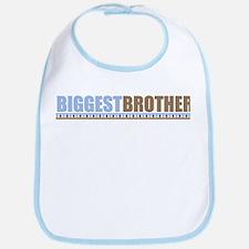 bigger brother brown blue Bib
