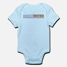 bigger brother brown blue Infant Bodysuit