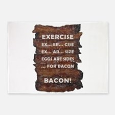 Exercise Bacon 5'x7'Area Rug