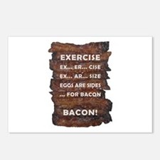 Exercise Bacon Postcards (Package of 8)