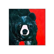 "Black Bear Square Sticker 3"" x 3"""