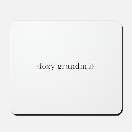 foxy grandma Mousepad